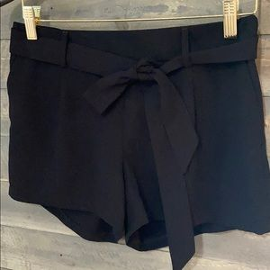 Express dressy shorts with tie belt